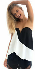 Stunning black and white Monochrome Top Strapless style TUNIC 6 -12 BNWT YDE