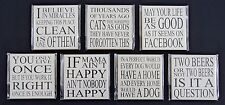 """MAGNET refrigerator humor 4"""" facebook dog cat mama beer live right miracles"""