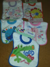 BABY PULL OVER THE HEAD BIBS BNWT
