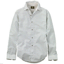 Timberland Men's Earthkeepers Slim Lane River Printed White Shirt Style #5543J