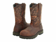 RED WING Mens Irish Setter Pull-On Aluminum Toe Western Work Boots Brown 83902