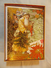 Assortment Punch Studio Victorian Style  Embellished Christmas Cards 12 per box