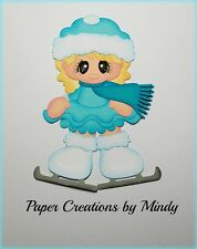 Craftecafe Mindy Winter Ice Skating girl premade paper piecing for scrapbook
