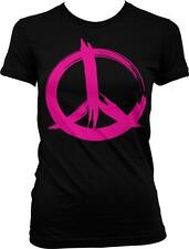 Pink Peace Sign Love Equality Pride Same Rights Juniors T-shirt