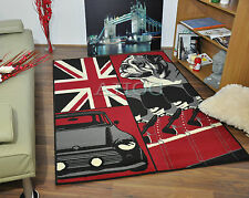 New Extra Large Small Retro Funky Modern Soft Thick Rug Carpet British Bull Dog