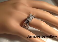 Genuine 925 Sterling Silver Engagement Dress Ring AAA CZ Eternity Infinity +Gift