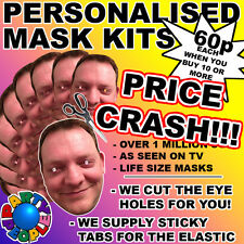 PERSONALISED CUSTOM FACE MASK KITS - SEND A PIC & WE SUPPY ALL YOU NEED TO DIY!