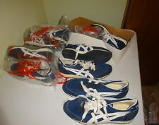 VTG Asics Tigers running shoes Deadstock blue White 1980s 5 5 55 6 75