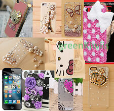 FOR iPHONE 4 5s 5C SE 6 6+ CUTE LUXURY 3D CRYSTAL DIAMOND CASE BLING COVER