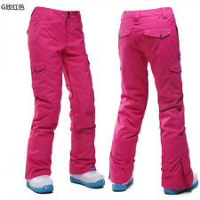 Women Soft Outdoor Pants Waterproof Breathable Hiking Outdoor Snowpant