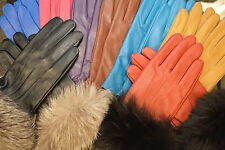 Leather Gloves with Fur Cuffs. Brand new and Custom Made!