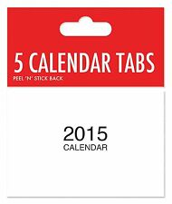 2015 calendar tabs white mini tab with tear peel and stick back Children Craft