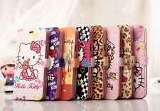 Hello Kitty Sexy Leopard Pattern Wallet Leather Case Cover For Samsung Galaxy