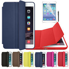For iPad mini 1 2 3 Retina Genuine Leather Smart Case Cover + Film Pen Set Cheap