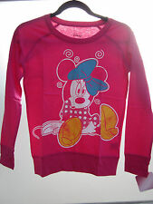NEW! 100% Licensed Disney Girls Dizzy Minnie Mouse Pink Long Sleeve Tee Shirt