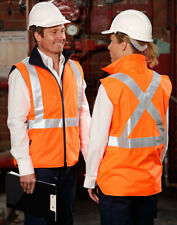 AIW SW37; High Visibility Reversible Safety Vest; 100% Polyester w Fleece w 3M T