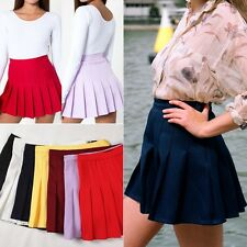 Fashion Women High Waist Pleated Slim Tennis Skirts Bodycon Mini Dress