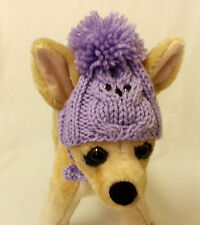 Pet Clothes Crochet  Hand-Knit Dog Hat for Small Dogs XS Size