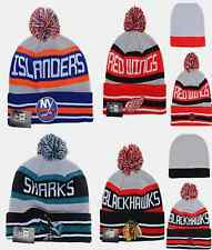 NHL Winter Cuffed Knit Beanie Ski Hats Sport Caps