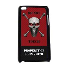 PERSONALIZED SKULL & CROSSBONES CASE FOR IPOD TOUCH 4TH 5TH GEN BOYS COOL