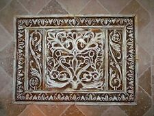 French Country Kitchen Backsplash Cast Stone Wall Plaque Tiles Set
