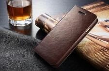 Luxury Genuine Leather Flip Cover Card Wallet Hard Case For Cell Phones