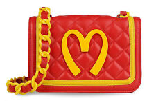 RUNWAY 2014 MOSCHINO Jeremy Scott Capsule Collection Quilted Leather Bag  *RARE*