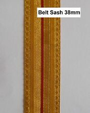 MILITARY UNIFORM TRIMMINGS - BRAID Pattern BELT SASH-SWORD SLING - Gold & Red