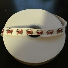 "5/8"" Maryland Flag Crab Grosgrain Ribbon by the Yard (USA SELLER!)"