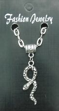 "20"" or 24"" Inch Necklace & Snake Pendant Charm Asp Aspis Reptile Souvenir Gift"