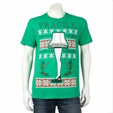 A CHRISTMAS STORY Leg Lamp HOLIDAY Tee Christmas T SHIRT Fragile UGLY SWEATER
