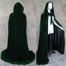 New Stock Hooded Cloak Medieva Wedding Cape Wicca Shawl Sca Green Size S-XXL