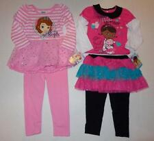 SOFIA THE FIRST or DOC MCSTUFFINS Girl 2T 3T 4T Set OUTFIT Shirt Leggings Disney