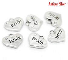 4 x Rhinestone Heart Charm 40 different ones to choose