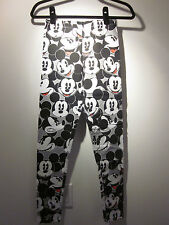 NWT! 100% Authentic Disney Junior Girls Faces of Mickey Mouse Printed Leggings