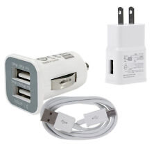 Home Wall +Dual USB Car Charger +1M Data Micro USB Cable for Android Smart Phone