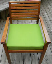 "IN/OUTDOOR TEAK PATIO DINING CHAIR SEAT CUSHION-CHOICE OF SOLID COLORS -18""X17"""
