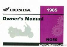 1985 NQ50 Spree Scooter Owner Manual : 31GK8620