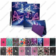 New Printed PU Leather Stand Folding Flip Case Cover For All Apple iPad + Stylus