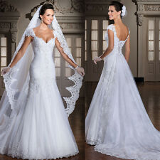 2015 Unique White Ivory Lace Wedding Dress Vestidos De Noiva Size 2 4 6 8 10 12+