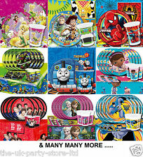 25 Themed Children's Cartoon Character BIRTHDAY PARTY PACK KITS for 16 Guests