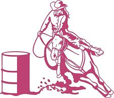 Barrel Racing Girl Rodeo Horse Farm Car Truck Window Laptop Vinyl Decal Sticker