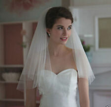 Stock New 2T white or Ivory Wedding Bridal veil Cathedral Length with comb!!!!!!