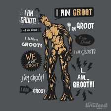 GUARDIANS OF THE GALAXY I Am Groot Marvel Limited Edition Mens T-Shirt (M-2XL)