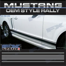 Mustang Factory Style Rally Rocker Stripes 3M Quality Ford 2013 - 2014 13 14