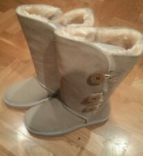 Ugg New BAILEY BUTTON TRIPLET SAND BOOTS SHOE WOMEN USA SIZE 7 # 1873