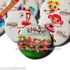 Lalaloopsy Tin Buttons pins badges,30MM,Round Brooch Badge,Clothes Decoration