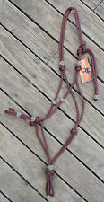 ROPE HALTER with DECORATIVE KNOTS -35 COLOURS- Draft to Mini Sizes