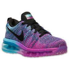 66afb3433bedf WOMEN S NIKE FLYKNIT AIR MAX RUNNING SHOES ~ FUCHSIA FLASH BLACK CLEARWATER~  NEW