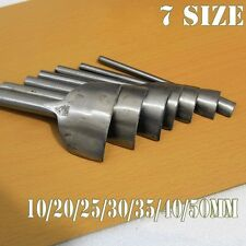 7 SIZE Heavy Duty Strap Belt End Cutter Punch 10~50mm Leather Craft Tool